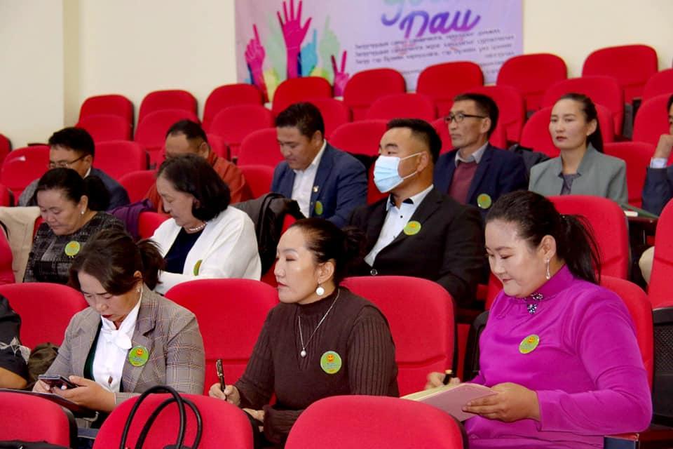 Говь-Алтай аймгийн Эрүүл мэндийн салбарын удирдах ажилтны зөвлөгөөнд оролцлоо.