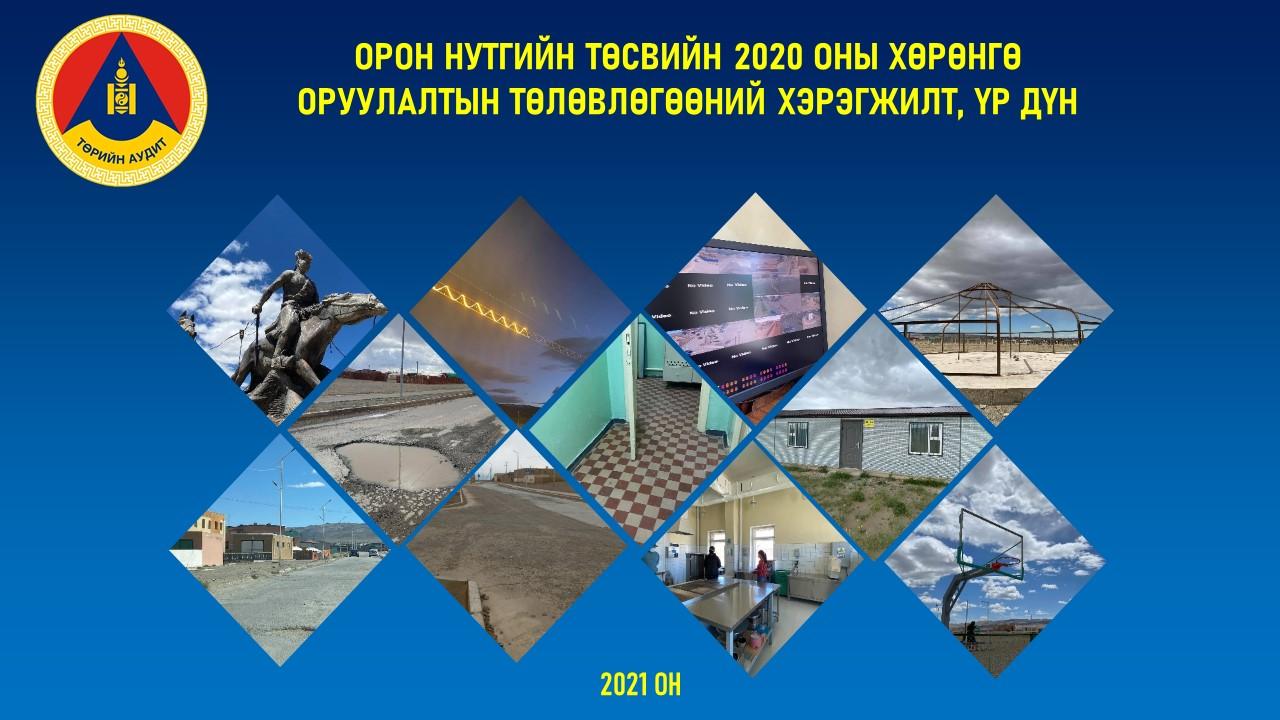 Говь-Алтай аймгийн Орон нутгийн төсвийн  2020 оны хөрөнгө оруулалтын төлөвлөгөөний хэрэгжилт, үр дүнд хийсэн гүйцэтгэлийн аудитын зурагт танилцуулга